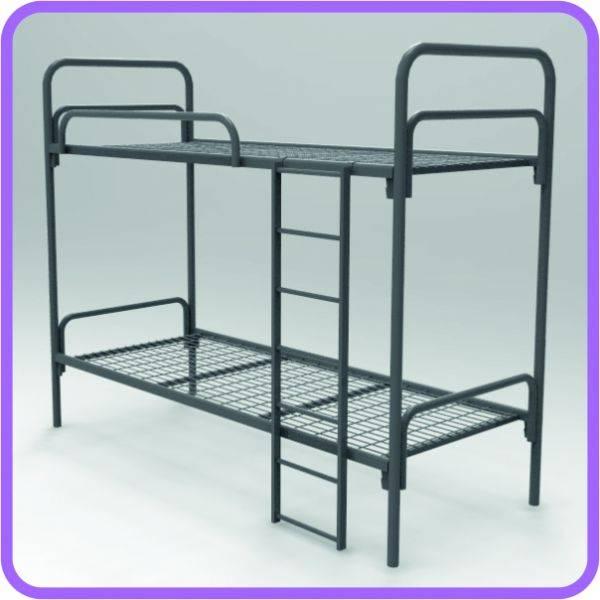 Металлические кровати для интернатов, кровати для баз отдыха