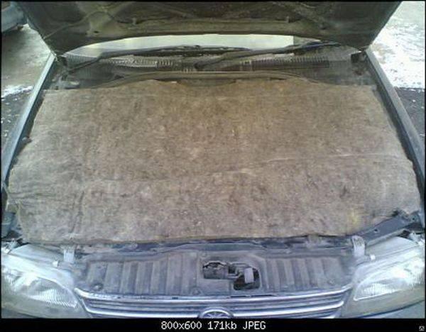 Одеяло из войлока для утепления двигателя автомобиля
