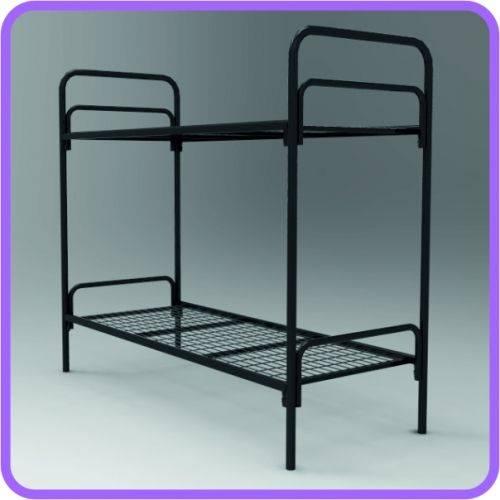 Кровати двухъярусные,  Кровати металлические для гостиницы,  Купить кровать
