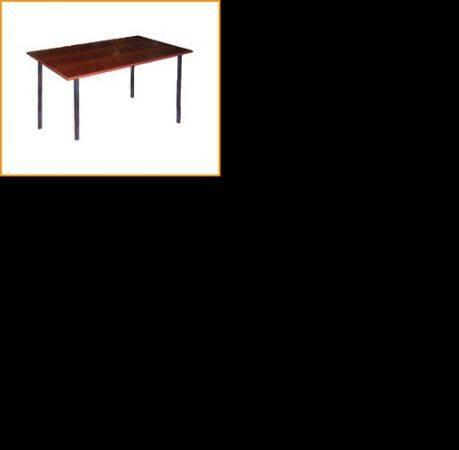 Manufacturer Стол пластиковый обеденный на металлокаркасе, крышка ДСП 16мм, кромка ПВХ 0, 4мм