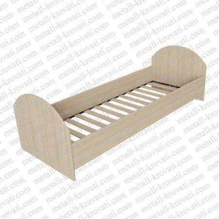 Кровать одноярусная с ламелями из ЛДСП