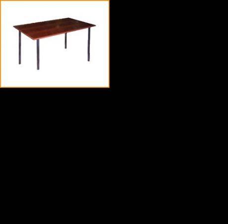 Стол пластиковый обеденный на металлокаркасе, крышка ДСП 16мм, кромка ПВХ 0, 4мм