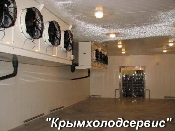 Холодильные установки для заморозки рыбы в Крыму. Компрессоры, воздухоохладители., Крым