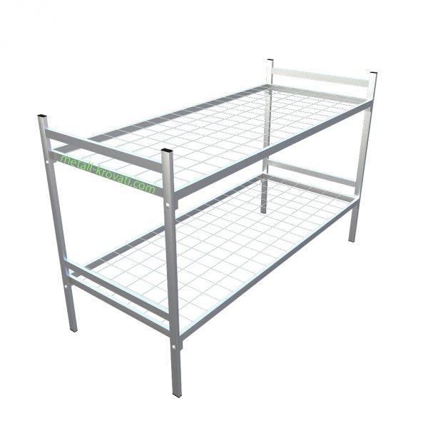 Кровати металлические армейского типа для размещения воинских частей, рабочих, строителей