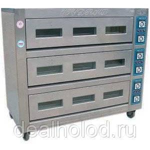 Печь хлебопекарная электрическая ярусная YXD (3-9), 3 яруса, 9 противней (AR) Foodatlas Pro
