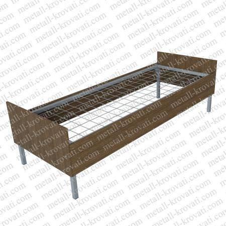 Кровать металлическая со спинками и царгами из ЛДСП 16мм ПВХ 0, 4мм