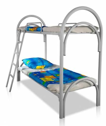 Двухъярусные кровати металлические для детских оздоровительных лагерей оптом