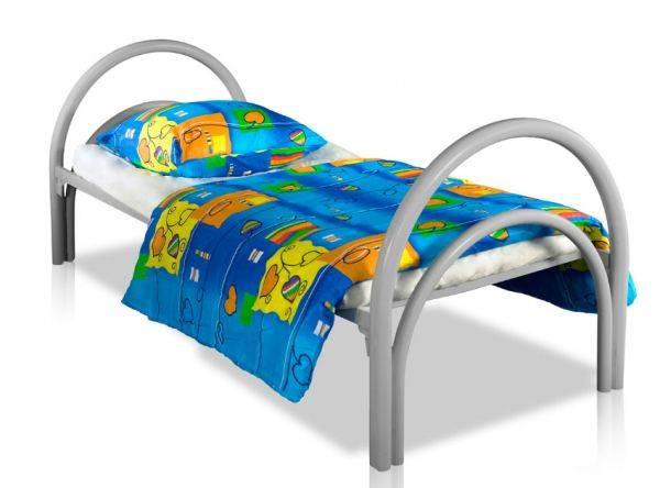 Кровати металлические эконом класса одноярусные для медицинских учреждений, больниц