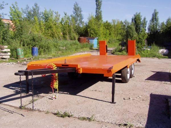 Прицеп грузовой, низкорамный, двухосный тандем, г/п 3, 5 тонн (с аппарелями, высокий)