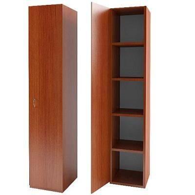 Шкаф одностворчатый для одежды с четырьмя полками из ДСП