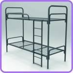 Двухъярусные кровати металлические для рабочих, лагеря оптом