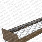 Кровать металлическая одноярусная со спинками и царгами из ЛДСП, ДКП- 5