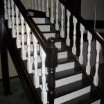 Фото Интерьерная лестница на контрасте венге с белым... Барнаул Папа Карло фабрика деревянных
