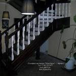 Фото Деревянная лестница в дом... Барнаул Папа Карло фабрика деревянных изделий