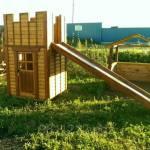 Фото Горка из дерева с домиком Башня (Детский домик +горка) для... Санкт-Петербург Дома и