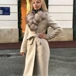 Фото Зимнее женское пальто с натуральным меховым воротником цвет... Москва Marianna Ross