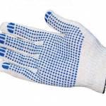 Фото Рабочие перчатки 10/3, белые ПВХ точка, комплект 10 пар... Санкт-Петербург ООО
