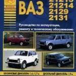 Фото ВАЗ 21213-2131. Автомобили семейства Нива. Руководство по... Москва Интернет-магазин