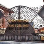 Фото Ворота кованые распашные изготовление по индивидуальным... Барнаул Гефест-Барнаул (ИП