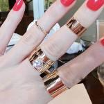 Фото Набор колец (4 шт.) Кристалл на фаланги пальцев под золото.... Повсеместно
