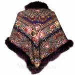 Фото Павловопосадский платок с мехом Остановись, мгновенье... Санкт-Петербург National Brand
