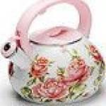 Фото Чайник эмалированный со свистком Mayer Boch Цветы, 3 л... Москва Интернет-магазин