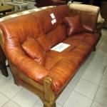 Фото Диван и два кресла цезарь, натуральная кожа №2011, массив... Ижевск сеть магазинов