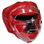 Фото Шлем маска для рукопашного боя, красный, кожа CLIFF, Р: M,... Повсеместно Интернет-магазин
