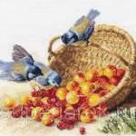 Фото Набор для вышивания крестом Синичка и черешня, арт. 1-14... Москва Интернет-магазин