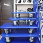 тележки платформенные металлические четырехколесные