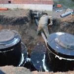 Фото Септик для дома из бетонных колец... Тюмень Армада