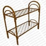 Кровать металлическая двухъярусная усиленная, (двойная ножка)