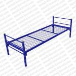 Кровать металлическая одноярусная сетка сварная 100х100мм. Бытовая КМ-1 без матраса.