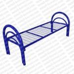 Кровать металлическая одноярусная усиленная (2 перемычки+ двойная ножка)