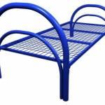 Кровать металлическая одноярусная усиленная, сетка прокатная пружина КС4-У4